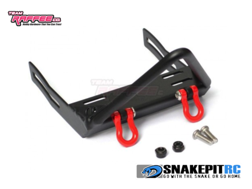TRC Steel Stinger Front Bumper w/Towing Hooks for Axial SCX10