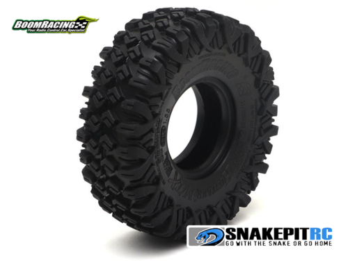 "BR HUSTLER M/T Xtreme 1.55"" BABY Rock Crawling Tires 3.74x1.3"