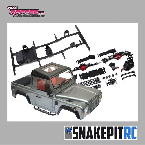 Team Raffee Co. D90 Chassis Kit mit TRC D90 Pickup Karosserie