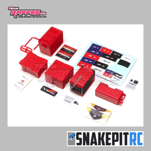 TRC Scale Box Set Red incl. Cooler and Tool Box (5 boxes)
