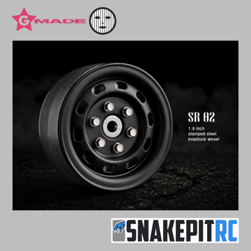 Gmade 1.9 SR02 beadlock wheels (black) (2)