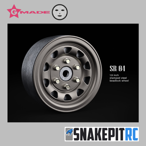 "Gmade SR04 1.9"" beadlock wheels (Uncoated steel) (2)"