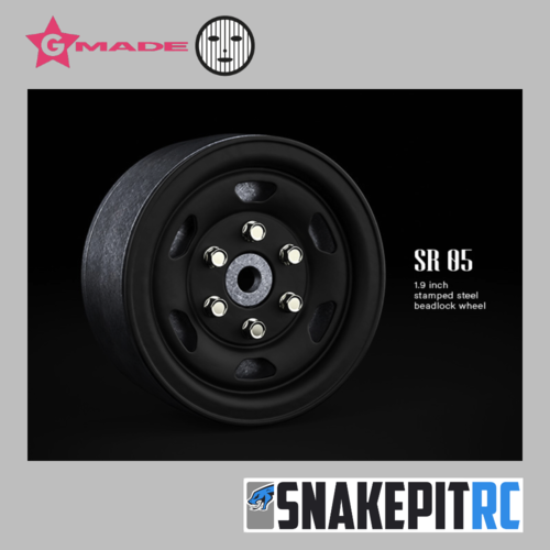 Gmade 1.9 SR05 beadlock wheels (Matt Black) (2)