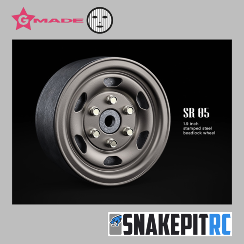 Gmade 1.9 SR05 beadlock wheels (Uncoated steel) (2)